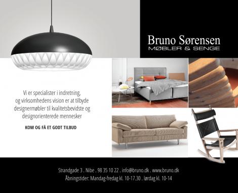 Grafisk materiale for Bruno Sørensen Møbler